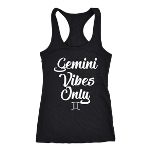 Gemini Vibes Only Racerback Tank Tops