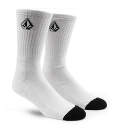 Volcom Full Stone Mens White Socks