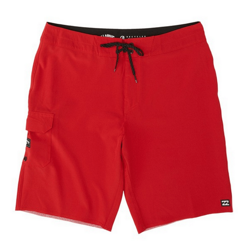 billabong mens lifeguard red boardshort
