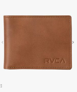 RVCA Crest Bifold Mens Tan Wallet