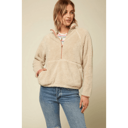 o'neill womens natural pullover fleece jadket