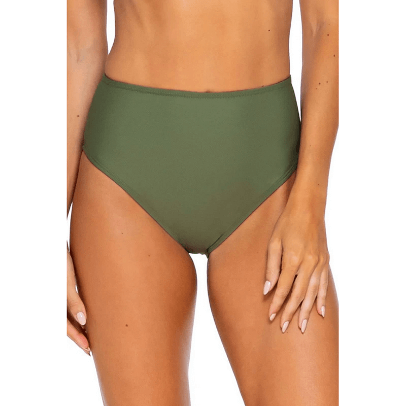 sunsets olive hi waist swim bottom