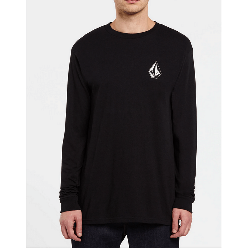 mens volcom black long sleeve tee shirt