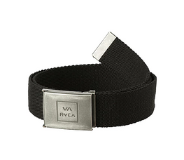 RVCA Falcon Mens Black Web Belt
