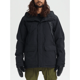 burton mens black breach snow jacket