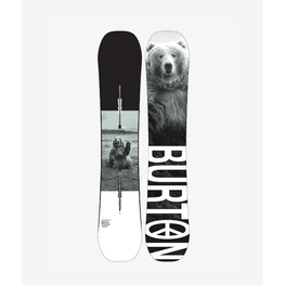 burton snowboard process with bear on top sheet and bottom