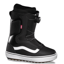 vans black and white boa snowboard mens boot
