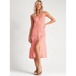 billabong button down midi dress