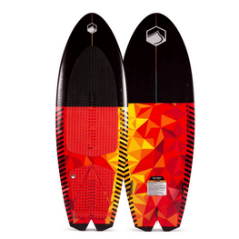 liquid force black and red and yellow wakesurfer