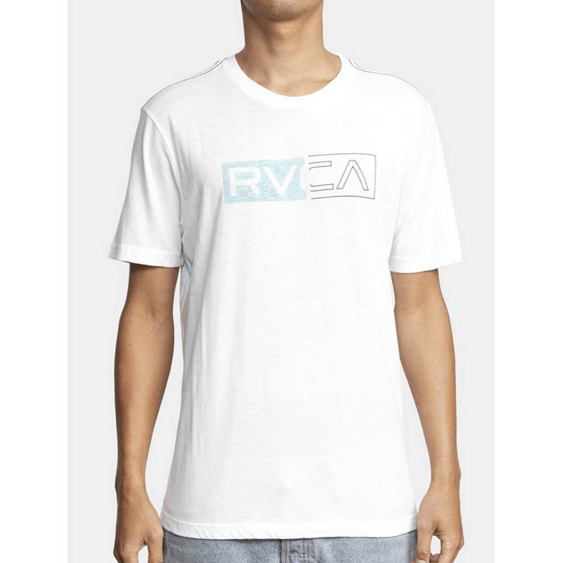 rvca mens white divider tee
