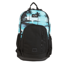 billabong black and aqua backpack