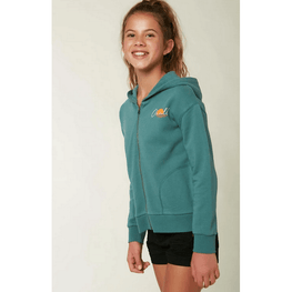 o'neill girls green zip up sweatshirt