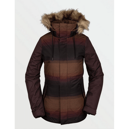 volcom womens stripe insulated snow jacket
