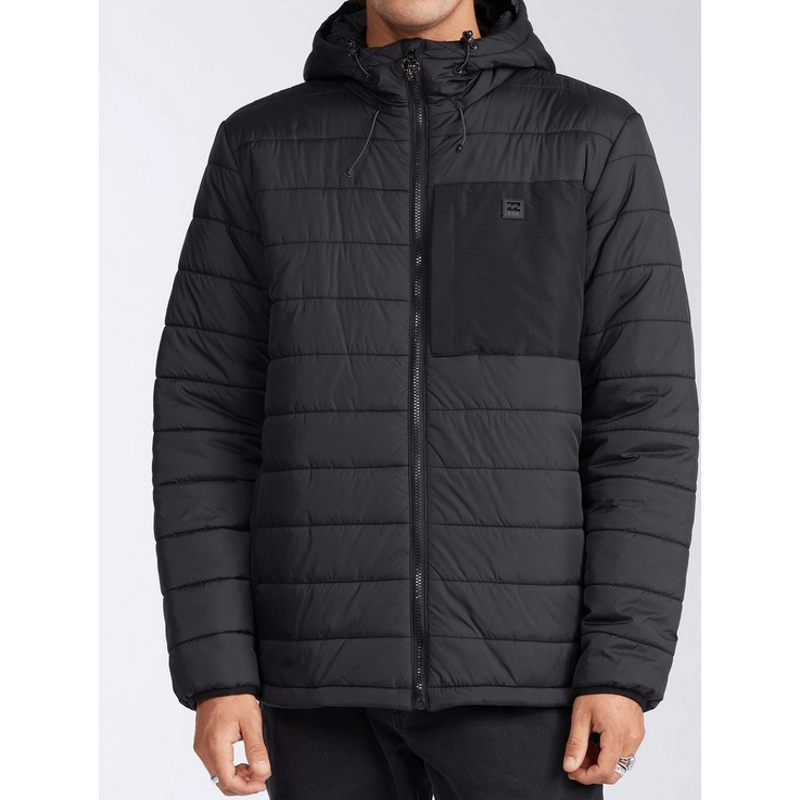 billabong mens black puffer jacket