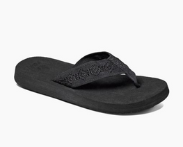 Reef Sandy Womens Black/Black Sandals