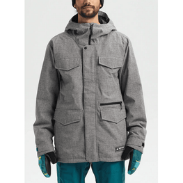 burton covert mens grey snow jacket
