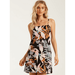 billabong womens slip dress printed off black