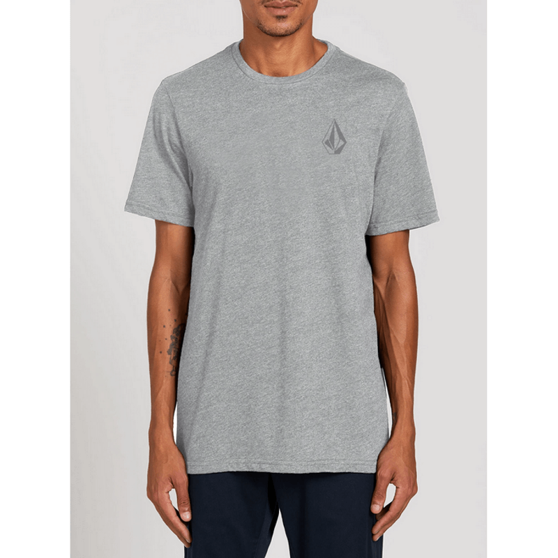 volcom mens grey tee with stone on left chest