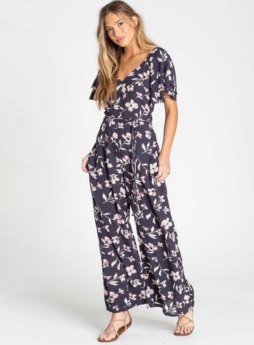 Billabong Fluttering Heart Womens Ink Jumpsuit