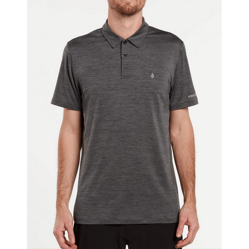 volcom heaterh black polo shirt