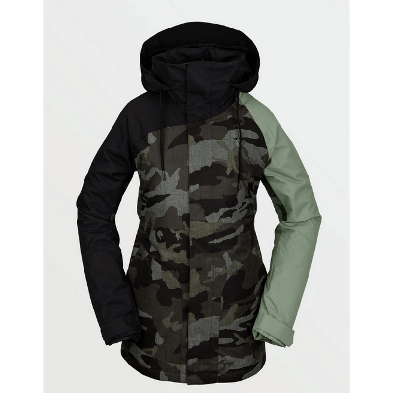 volcom color black snow jacket wesland