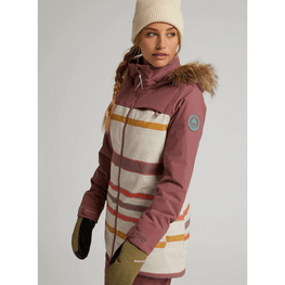 burton lelah womens snow jacket stripe