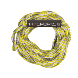 ho yellow and white tube rope