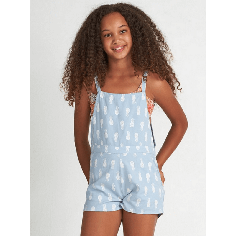 Billabong Aruba Baba Girls Chambray Short Overall