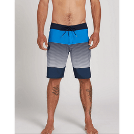 volcom mens swim trunks blue and white stripe