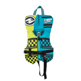 hyperlite boys blue and yellow wake vest