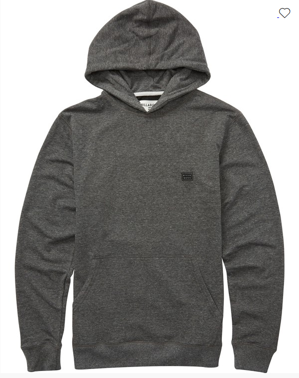 Billabong All Day Boys Black Pullover Hoodie