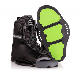 liquid force wakeboard binding black and green