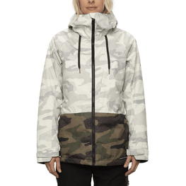686 womens athena white camo snow jacket