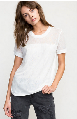 RVCA Delineate Womens Vintage White Knit Top