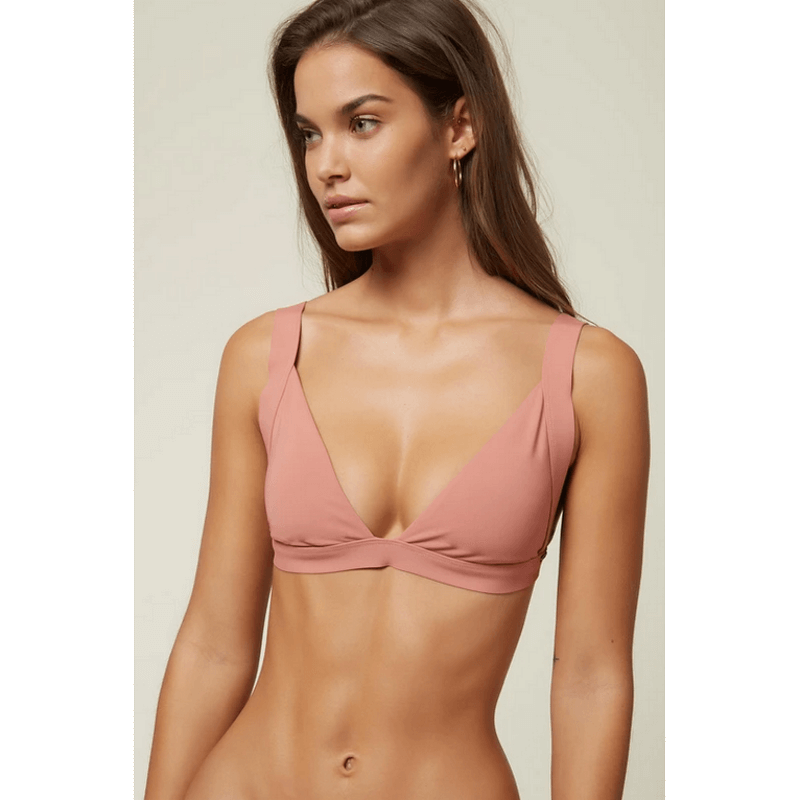 oneill banded womens swim top