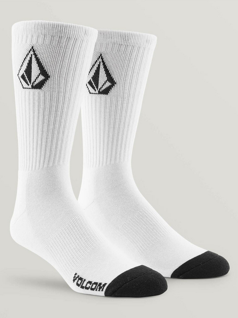 Volcom Stone Mens White Socks 3 Pack