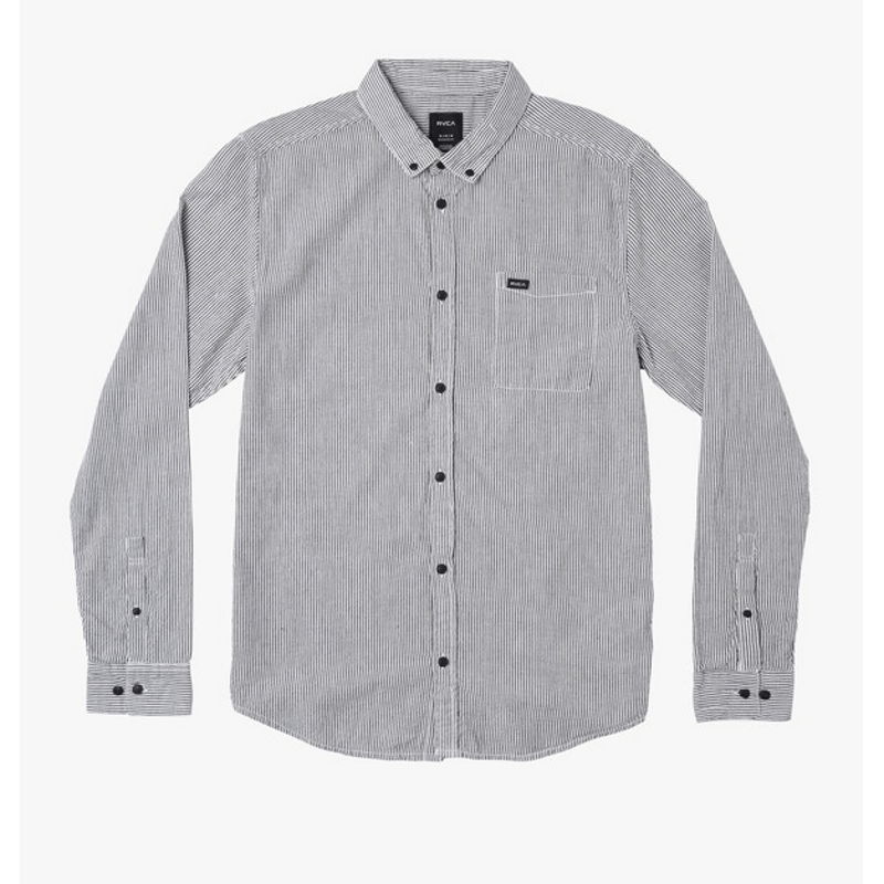 seersucker rvca long sleeve shirt