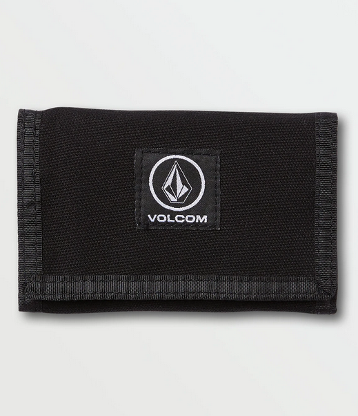 volcom box stone wallet with circle patch
