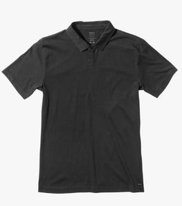 RVCA Sure Thing Mens Black Polo Tee Shirt