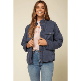 o'neill womens blue quilted jacket