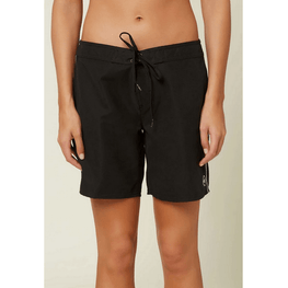 oneill womens black seven inch womens boardshort with tie front