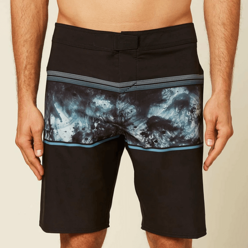 oneill mens black boardshort with print