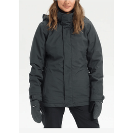 burton black womens jet set snow jacket