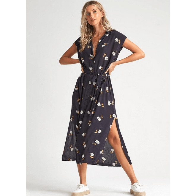 billabong florad midi dress