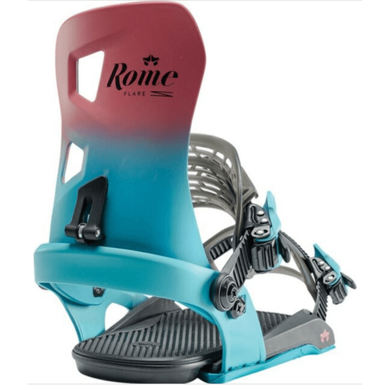 Rome Flare Womens Pink & Blue Berry Snowboard Bindings