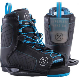 Hyperlite Remix Mens Black Blue Wakeboard Bindings