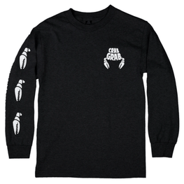 Crab Grab Claw Black Long Sleeve Tee Shirt