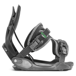 Flow Alpha Mens Grey Snowboard Bindings