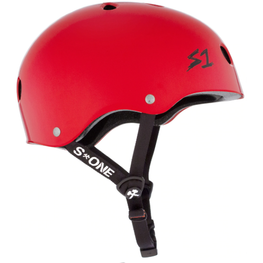 S One Lifer Gloss Red Skateboard Helmet