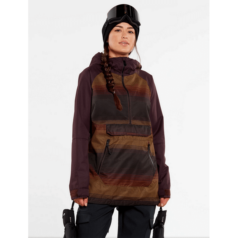 volcom womens pull over snow jacket